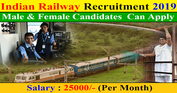 Indian Railway Recruitment 2019 – Apply Now 1